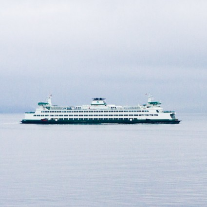Catching the ferry from Seattle to Bainbridge Island