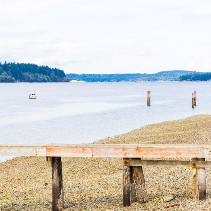 A beach scene on Bainbridge Island